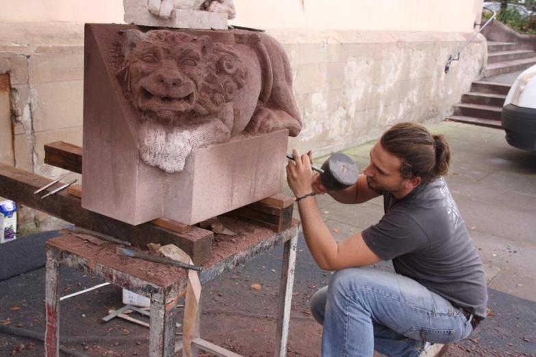 lion, symposium de sculpture marmoutier