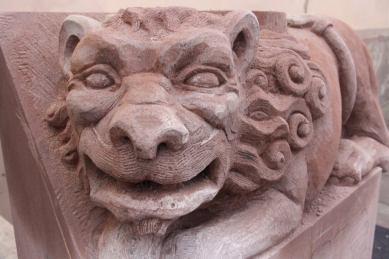 lion, symposium de sculpture marmoutier1