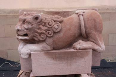 lion, symposium de sculpture marmoutier3
